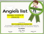 Great Reviews on Angie's List